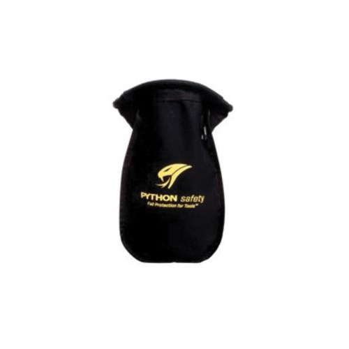 3M DBI-SALA Fall Protection 1500123 Python Safety® Extra Deep Small Parts Pouch, 18 oz Duck Canvas, Black, For Use With Belt or Harness Attachment