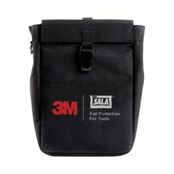 3M DBI-SALA Fall Protection 1500127 Extra Deep Tool Pouch With D-Ring, 5 lb, 2 Pockets, Canvas, Black, For Use With Steel Cable Retractors