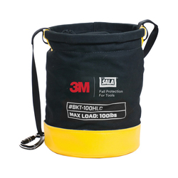 3M DBI-SALA Fall Protection Python Safety™ 1500134 Python Safety® Safe Bucket, 100 lb Load Capacity, Duck Canvas, Black/Yellow