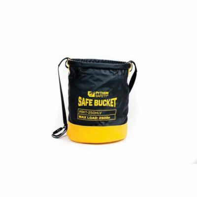 3M DBI-SALA Fall Protection 1500140 Python Safety® Standard Safe Bucket, 250 lb, Vinyl, Black/Yellow