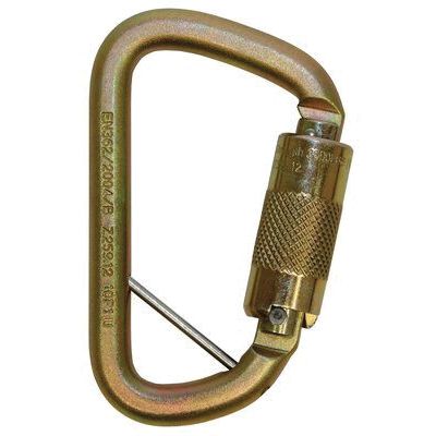 3M DBI-SALA Fall Protection Rollgliss™ 2000117 Technical Rescue Offset D Fall Arrest Carabiner With 2000117 Captive Eye, Medium Snap, Steel