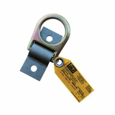 3M DBI-SALA Fall Protection 2101634 D-Ring Anchorage Plate, Hot Rolled Steel/Zinc Plated Steel, Silver/Yellow Zinc