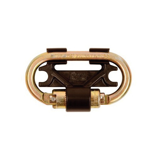 3M DBI-SALA Fall Protection Nano-Lok™ 3100087 Twin-Leg Connector, For Use With Twin Leg Nano-Lok™SRL Models, Steel, Gold