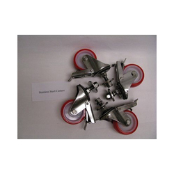 3M-Matic™ 051111-91785 Casters, For Use With 3M-Matic™ a20-s Adjustable Case Sealer, Stainless Steel