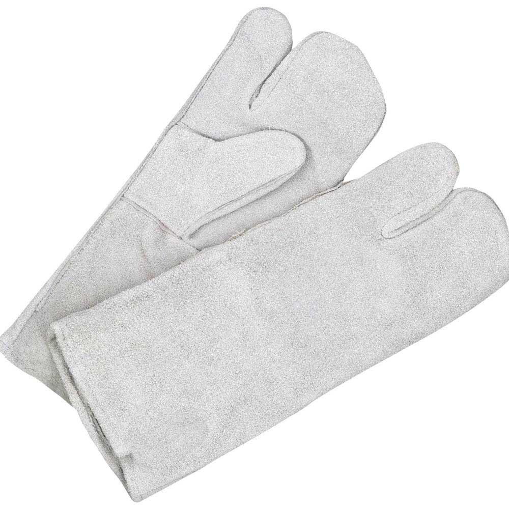Welding Mitt Split Leather Pearl Grey 1-Finger