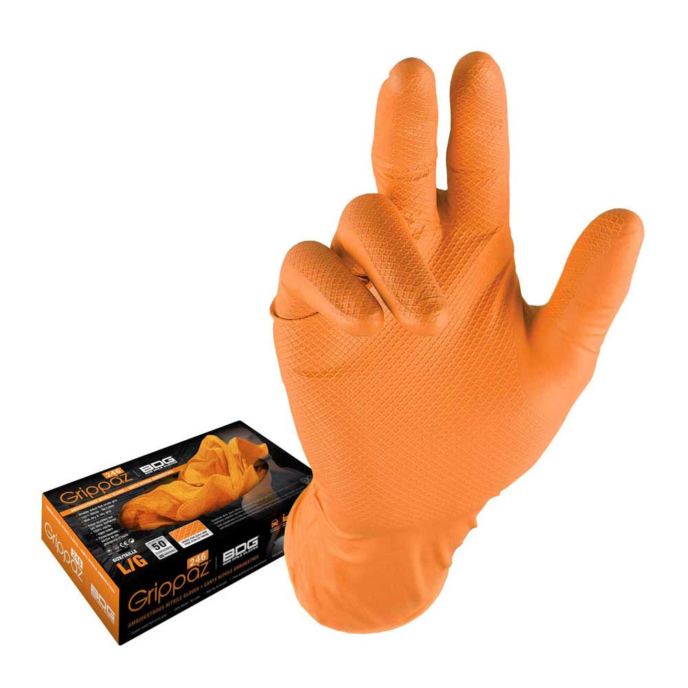 Grippaz Orange Nitrile Disposable 6mil Box