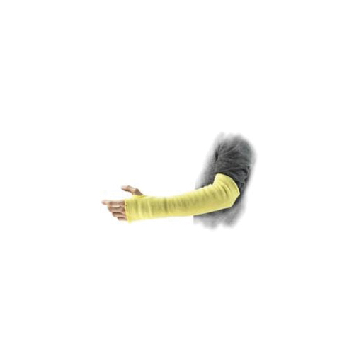 Ansell GoldKnit® 242002 70-118 Medium Duty Cut-Resistant Sleeves With Thumb Slot, Universal, 14 in L x 24 ga THK, DuPont™ Kevlar®, Yellow