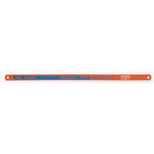 Bahco® 3906-300-18-10P Sandflex® Hacksaw Blade, 13 mm W x 300 mm L Blade, HSS Cutting Edge, Bi-Metal/Steel Blade, 18 TPI