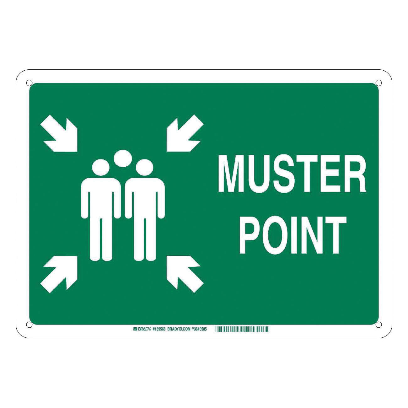10x14 Plastic Sign , Muster Point