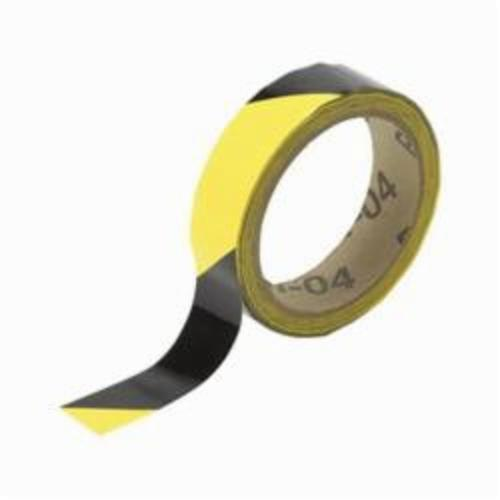 Brady® 55300 High Performance Non-Reflective Overlaminate Warning Stripe and Check Marking Tape, 18 yd L x 1 in W, Black on Yellow, B-950 Vinyl/Polyester