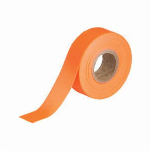 Brady® 58352 Non-Adhesive Flagging Tape, Fluorescent Orange, 1.188 in W x 150 ft L