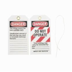 Tag Do Not Operate Cardstock
