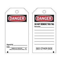 Tags Danger 25/Pkg