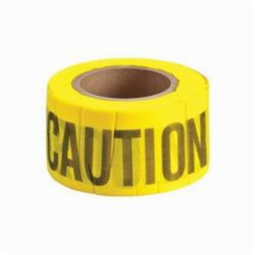 Brady® 91090 Bio-Degradable Flagging Tape, Black on Yellow, 3 in W x 50 ft L, CAUTION, 69% Wood Fiber