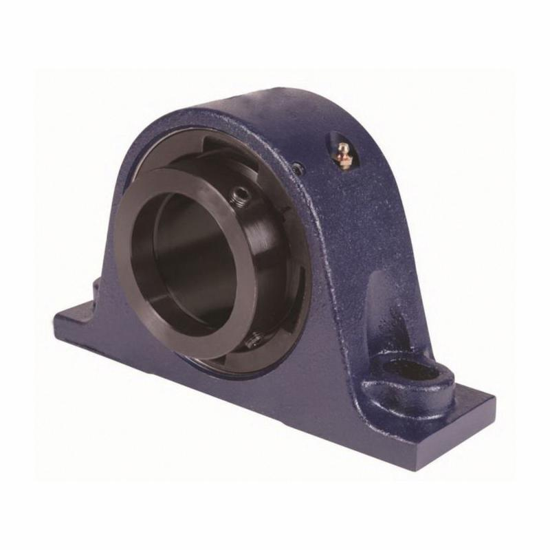 Carlisle® QMPL15J215SM EC Series S2000 Style Solid Block Spherical Roller Bearing Housed Unit, 2-15/16 in Dia Bore, 7.7 to 8.4 in L Bolt Center-to-Center, 3-1/4 in Base to Bore Centerline, 10.44 in OAL x 6.59 in OAH