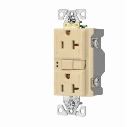 Eaton Wiring Devices Sgf20w Duplex Gfci Receptacle 125 Vac 20 A 2 Poles 3 Wires White Source Atlantic