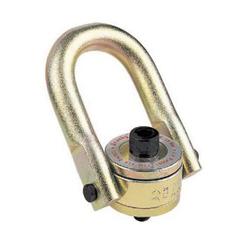 Crosby® 1016624 HR-125M Swivel Hoist Ring, 1050 kg at 5:1 Design Factor Load, 180 deg Pivot, 360 deg Swivel, 17.5 mm Bail, M12x1.75 Thread