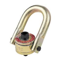 Crosby® 1016909 HR-125 Swivel Hoist Ring, 2500 lb Load, 180 deg Pivot, 360 deg Swivel, 0.69 in Bail, 1/2-13 UNC Thread