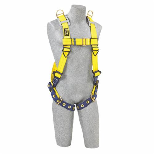 3M DBI-SALA Fall Protection 1101254C Delta™ Entry/Retrieval Unisex Harness, Universal, 420 lb Load, Repel™ Polyester Strap, Tongue Leg Strap Buckle, Quick-Connect Chest Strap Buckle, Steel/Aluminum/Stainless Steel Hardware, Yellow