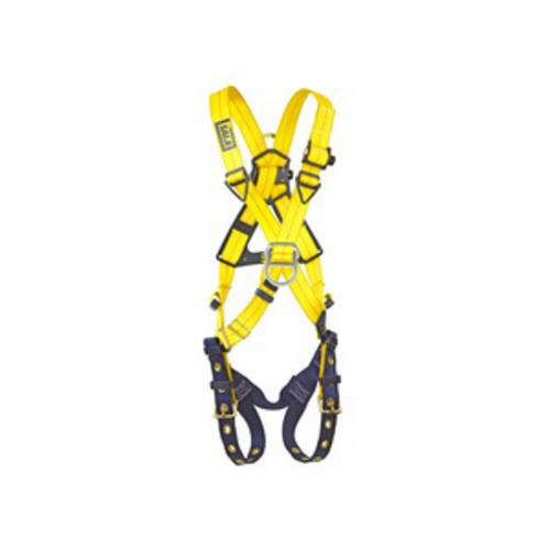 3M DBI-SALA Fall Protection 1102950C Delta™ Unisex Harness, Universal, 420 lb Load, Repel™ Polyester Strap, Tongue Leg Strap Buckle, Steel/Aluminum/Stainless Steel Hardware, Navy/Yellow