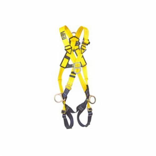 3M DBI-SALA Fall Protection 1103270C Delta™ Work Positioning Unisex Harness, Universal, 420 lb Load, Polyester Strap, Pass-Thru Leg Strap Buckle, Steel/Aluminum/Stainless Steel Torso Buckle/Steel Leg Buckle Hardware, Navy/Yellow