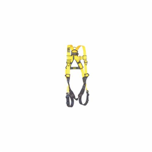 3M DBI-SALA Fall Protection 1103321C Delta™ Unisex Harness, Universal, 420 lb Load, Repel™ Polyester Strap, Pass-Thru Leg Strap Buckle, Steel/Aluminum/Stainless Steel Hardware, Navy/Yellow