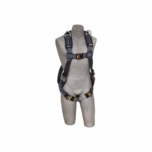 3M DBI-SALA Fall Protection 1110376C ExoFit™ XP Retrieval Harness, M, 420 lb Load, Quick-Connect Leg Strap Buckle, Quick-Connect Chest Strap Buckle, Blue