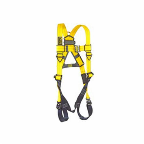 3M DBI-SALA Fall Protection 1110600C Delta™ Multi-Purpose Unisex Harness, Universal, 420 lb Load, Repel™ Polyester Strap, Quick-Connect Leg Strap Buckle, Tech-Lite™ Aluminum Leg/Chest Buckle/Zinc Plated Steel/Aluminum/Stainless Steel Torso Buckle Hardware