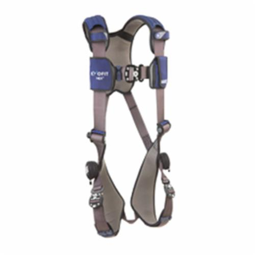 3M DBI-SALA Fall Protection 1113007C ExoFit™ NEX™ Harness, L, 420 lb Load, Quick-Connect Leg Strap Buckle, Quick-Connect Chest Strap Buckle, Steel/Aluminum Hardware