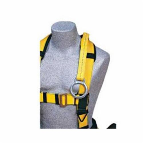 3M DBI-SALA Fall Protection 1231117 D-Ring Extension, For Use With Harness, 1-1/2 ft L, Zinc Plated Steel Anchor Hook/Polyester Web Lanyard, Yellow