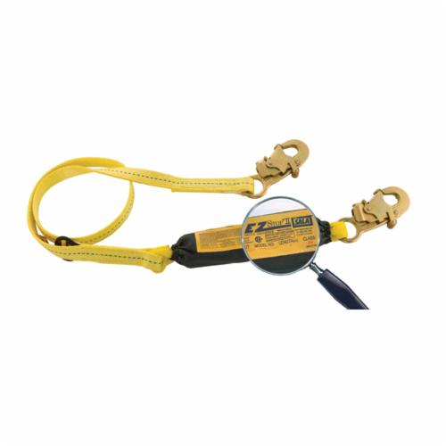 3M DBI-SALA Fall Protection 1242230C EZ-Stop™ II Shock Absorbing Lanyard, 6 ft L, 1 Legs, Web Choker Anchorage Connection, Snap Hook Harness Connection Hook, Specifications Met: CSA E6