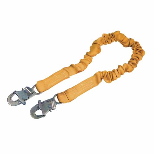 3M DBI-SALA Fall Protection 1244306C ShockWave™2 Elastic Shock Absorbing Lanyard, 130 to 310 lb Load Capacity, 6 ft L, Polyester Webbing Line, 1 Legs, Snap Hook Anchorage Connection, Snap Hook Harness Connection Hook