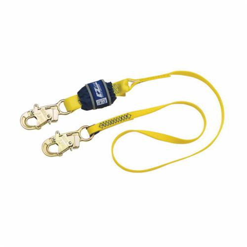 3M DBI-SALA Fall Protection 1246017C EZ-Stop™ Fixed Shock Absorbing Lanyard, 130 to 310 lb Load Capacity, 4 ft L, Polyester Line, 1 Legs, Snap Hook Anchorage Connection, Snap Hook Harness Connection Hook