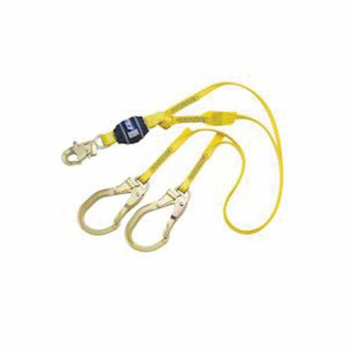 3M DBI-SALA Fall Protection 1246111C EZ-Stop™ Lightweight Tie-Off Shock Absorbing Lanyard, 100 to 254 lb Load Capacity, 4 ft L, Nylon Line, 2 Legs, Rebar Hook Anchorage Connection, Rebar Hook Harness Connection Hook