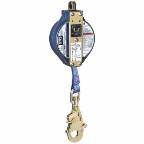 3M DBI-SALA Fall Protection Ultra-Lok™ 3103208C Self-Retracting Lifeline With Self-Locking Swivel Snap Hook, 75 to 310 lb Load Capacity, 20 ft L, Specifications Met: ANSI Z359.14, ANSI A10.32, CSA Z259.2.2 Type 2, OSHA 1910.66, OSHA 1926.502