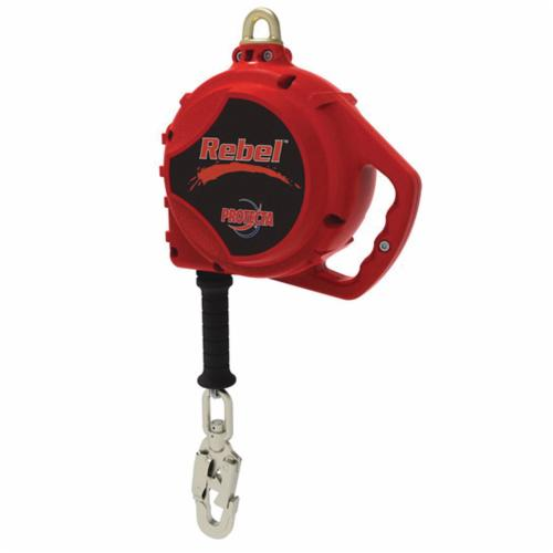 3M Protecta Fall Protection 3590519 Rebel™ Self-Retracting Lifeline With Swivel Self-Locking Snap Hook, 420 lb Load Capacity, 20 ft L, Specifications Met: ANSI Z359.14, ANSI A10.32, CSA Z259.2.2 Type 2, OSHA 1910.66, OSHA 1926.502
