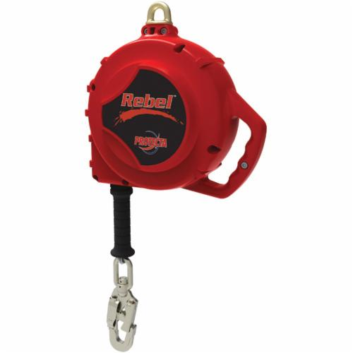 3M Protecta Fall Protection 3590552 Rebel™ Self-Retracting Lifeline With Swivel Self-Locking Snap Hook, 310 lb Load Capacity, 50 ft L, Specifications Met: CSA Z259.2.2 Type 2, OSHA 1910.66, OSHA 1926.502