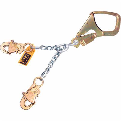3M DBI-SALA Fall Protection 5920200C Fixed Standard Chain Positioning Lanyard, 26-1/2 in L, Aluminum Line, Rebar Hook Anchorage Connection, Snap Hook Harness Connection Hook, Specifications Met: ANSI A10.32, OSHA 1910.66, OSHA 1926.502