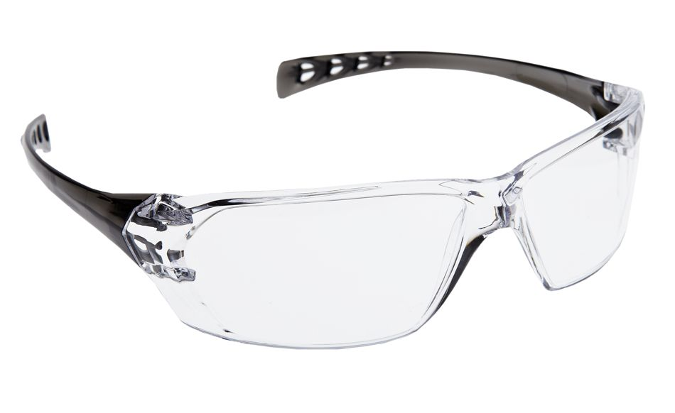 Dynamic Safety EP550C The Solus Safety Glasses EP550 Series, Black Frame, Clear Lens