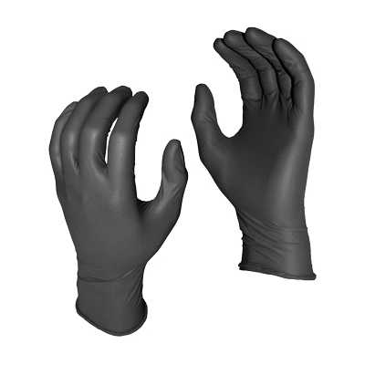 "'Glove - Nitrile, 8ml, 11"", black, 50pk'"