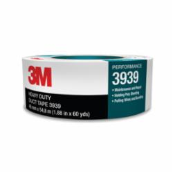 3M™ 051131-06975 Heavy Duty Duct Tape, 54.8 m L x 48 mm W, 8.6 mil THK, Rubber Adhesive, Polyethylene Over Cloth Scrim Backing, Silver