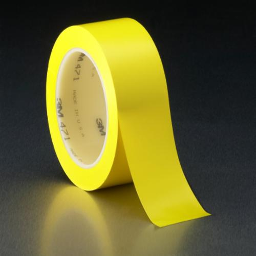 3M™ 021200-04308 471 High Performance Marking Tape, 2 in W x 36 yd Roll L, 5.2 mil THK, Blue