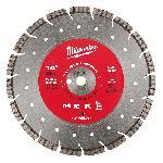 Milwaukee® 49-93-7140 Universal Segmented Turbo Circular Diamond Saw Blade, 14 in Dia Blade, 1 in, 20 mm Arbor/Shank, Dry/Wet Cutting