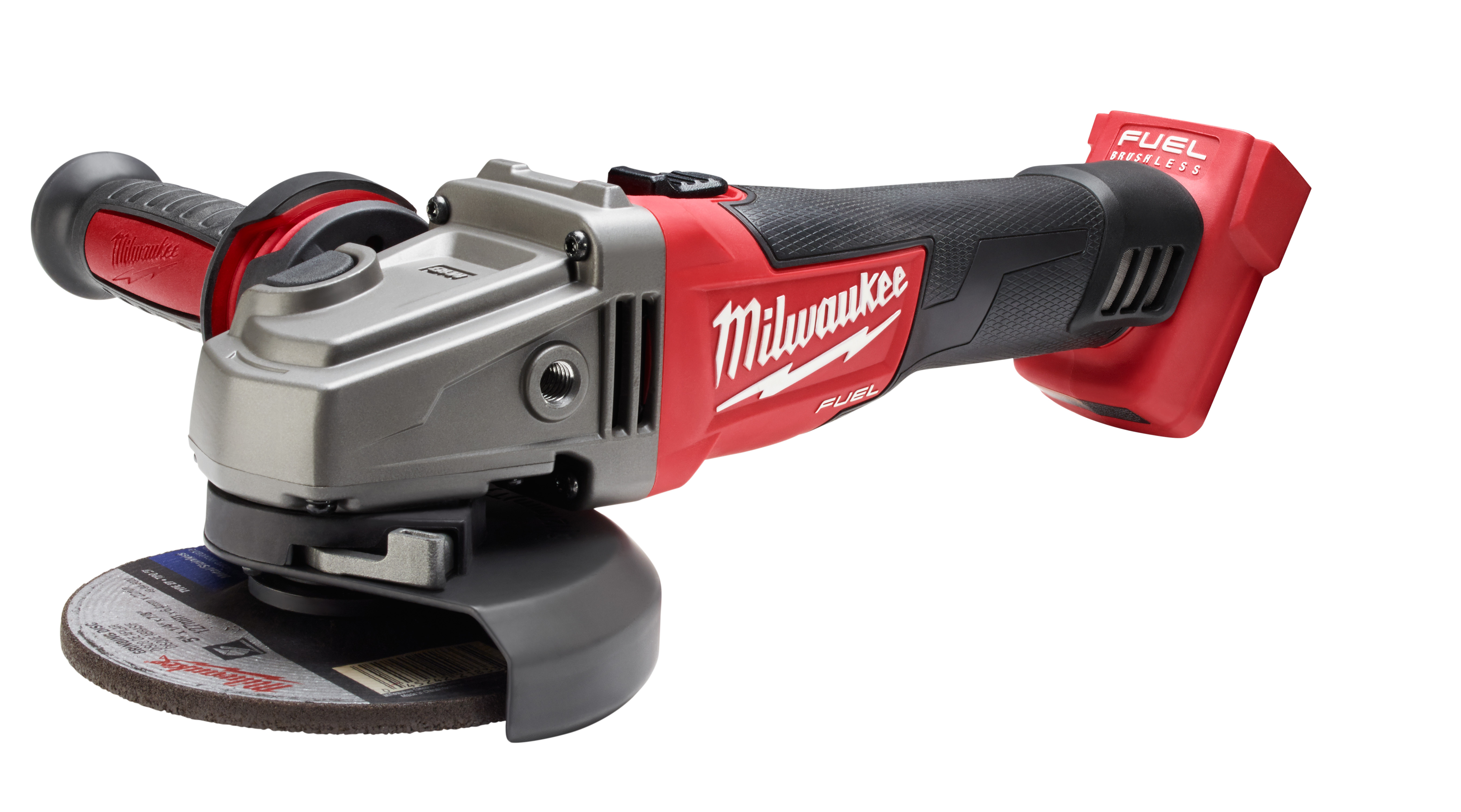 Milwaukee® M18™ FUEL™ 2781-20 Cordless Angle Grinder, 5 in Dia Wheel, 5/8-11 Arbor/Shank, 18 VDC, Lithium-Ion Battery, Slide with Lock-On Switch