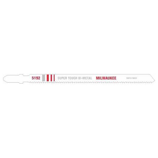Milwaukee® 48-42-5192 Heavy Duty Jig Saw Blade, 5-1/4 in L x 9/32 in W, 14, Bi-Metal Cutting Edge, Bi-Metal Body