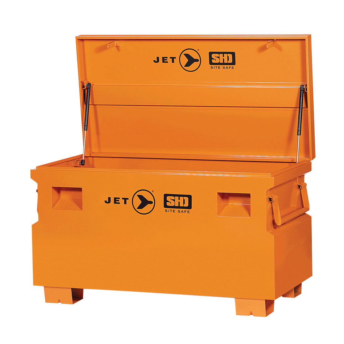 JET 842481 Super Heavy Duty Jobsite Tool Storage Box, 24-1/8 in x 48-1/8 in W x 24-1/8 in D, 16 cu-ft Storage, Steel
