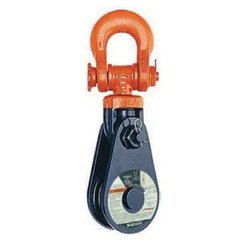 McKissick® 121022 431 Super Champion Snatch Block With Shackle, 1 to 1-1/8 in, 20 ton Load, 8 in OD
