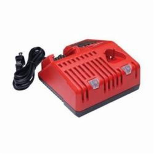 Milwaukee® 48-59-1812 M12™ Slide Multi-Voltage Charger, For Use With Milwaukee® M12™ 48-11-2401, 48-11-2401 and M18™ 48-11-1815, 48-11-1828 Battery Pack, Lithium-Ion Battery, 1 hr Charging
