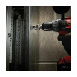 Milwaukee® 48-89-9202 Step Drill Bit, Imperial, 3/16 in Min Hole Diameter, 1/2 in Max Hole Diameter, 6 Steps, HSS, 6 Hole Sizes, 1/4 in Shank