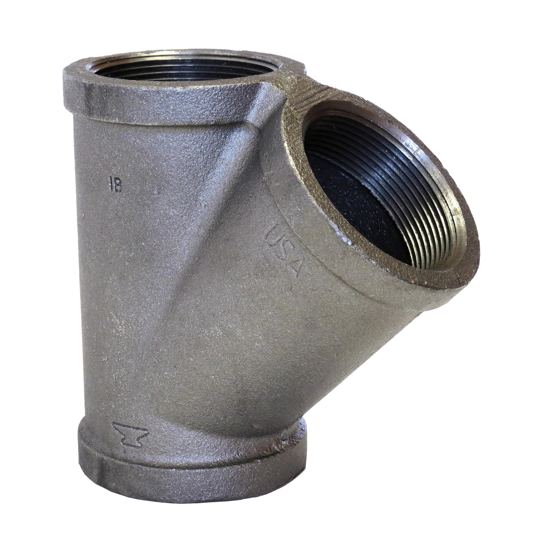 Anvil® 0310067608 FIG 1108 Standard Pipe 45 deg Wye, 2 in, FNPT, 150 lb, Malleable Iron, Domestic